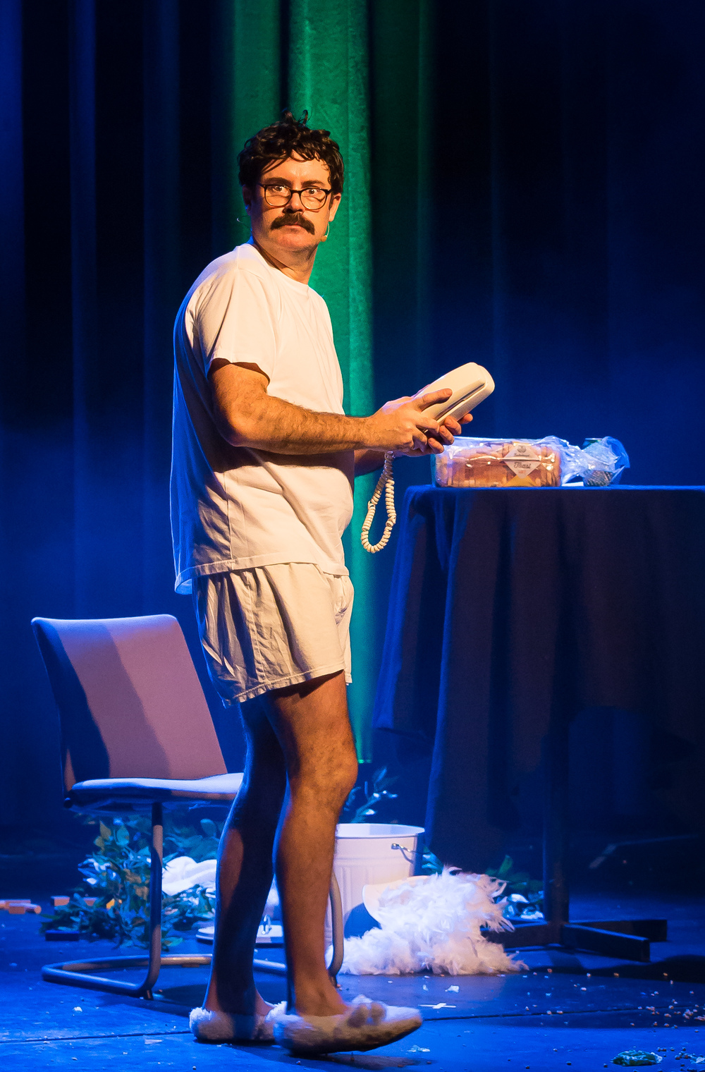 Australian Sam Simmons performing the award winning show 'Spaghetti for Breakfast'.