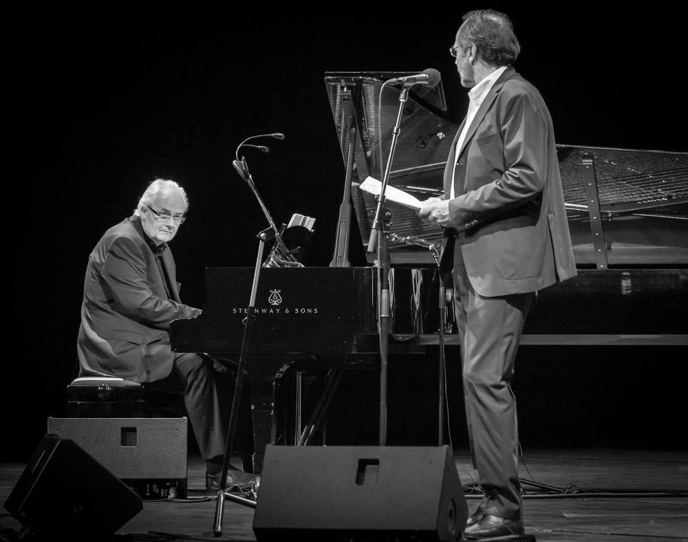 Ketil Bjørnstad and Ole Paus at Oslo Operahouse in 2015