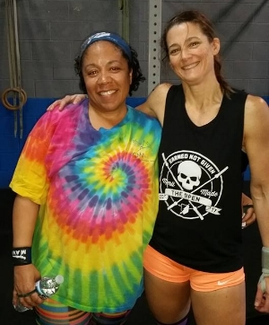 Natika with Cathy, a supportive CrossFit Friend!