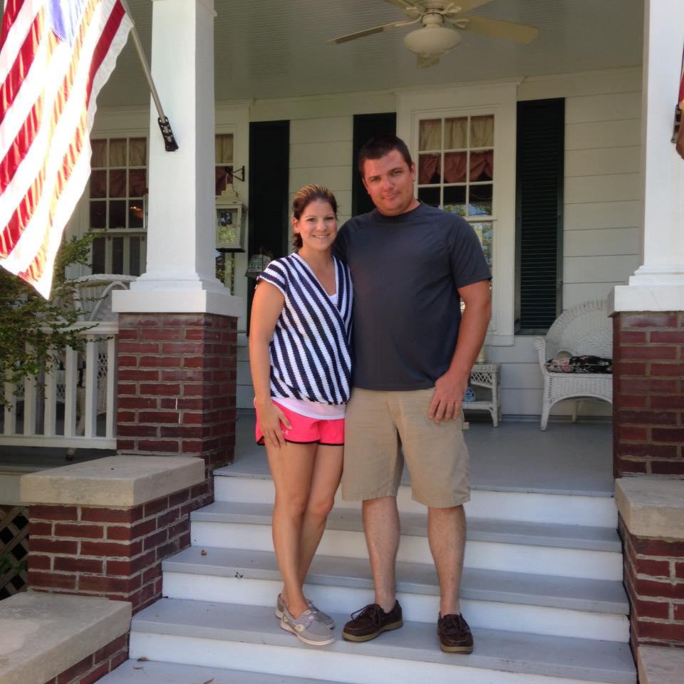 Stephanie and her husband Chris.