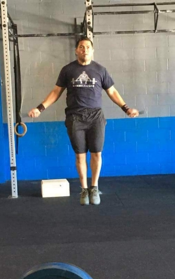 Just crushing some double unders.