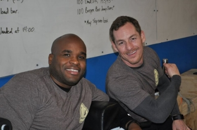 David and his partner Sherwin during the CrossFit Merit Winter Classic competition.
