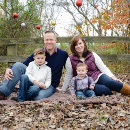 Mark, Rebecca, and their two children.