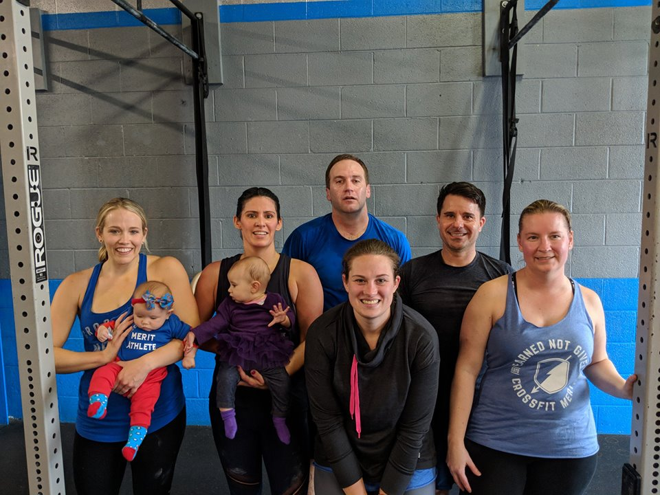 Kenny and Merit members after a CrossFit Open workout.