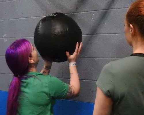 Nicole during her first CrossFit Open.