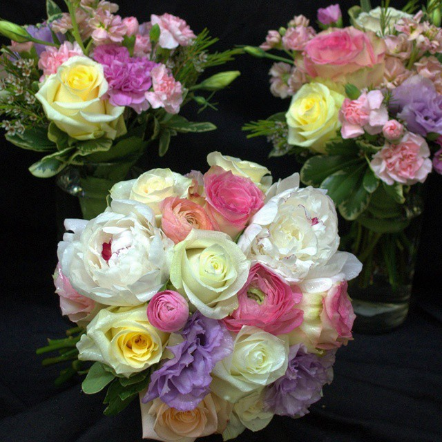Beautiful Spring Wedding Bouquet  #peonies#roses#ranunculas#AlffsATX