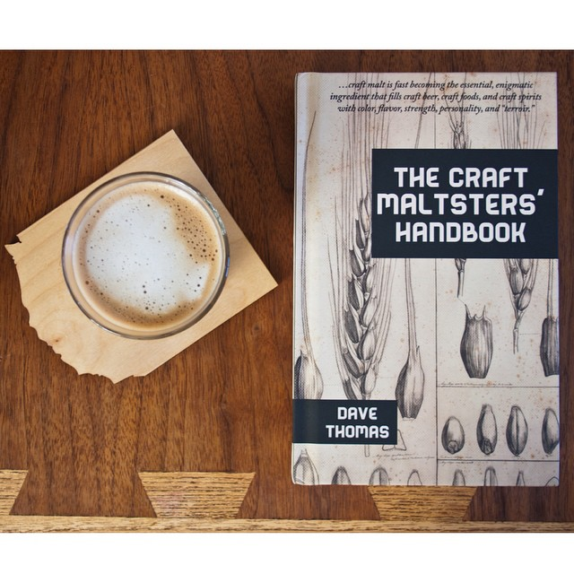 Morning with The Craft Maltsters' Handbook and a Gibraltar. #craftmalt