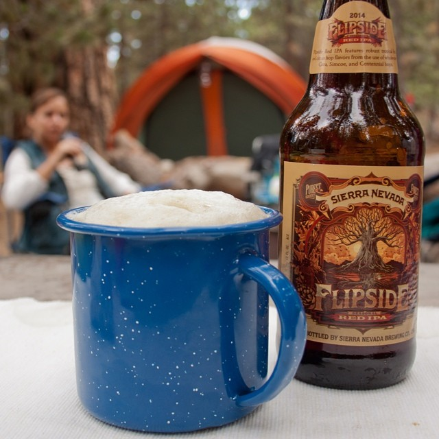 And because we were supposed to be backpacking in the Sierra Nevada last weekend, we instead brought @sierranevada to #LosPadresNationalForest. #campbeer #mtpinos #reikingdom6 #flipsideipa @chocosnitch