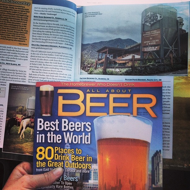 Check out the new @allaboutbeer for my coverage of @bigbendbrewing @kernriverbrewing and #newglarusbrewing – three of the most beautiful places to drink great beer. Yay magazine work! #brewswithviews #beeroutside
