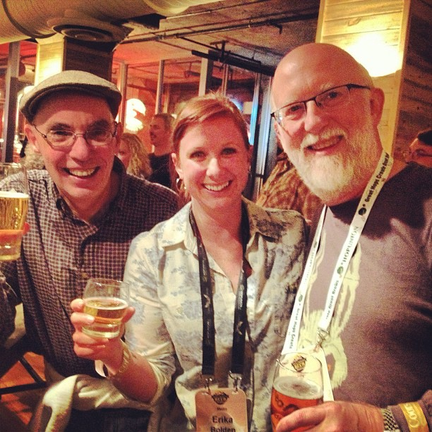 Saturday night I got to chat about publishers and pre-modern brewing with Stan Hieronymus and Randy Mosher, who long ago inspired me to become a beer writer. It was a career highlight. @stanhieronymus #randymosher #beerwriters