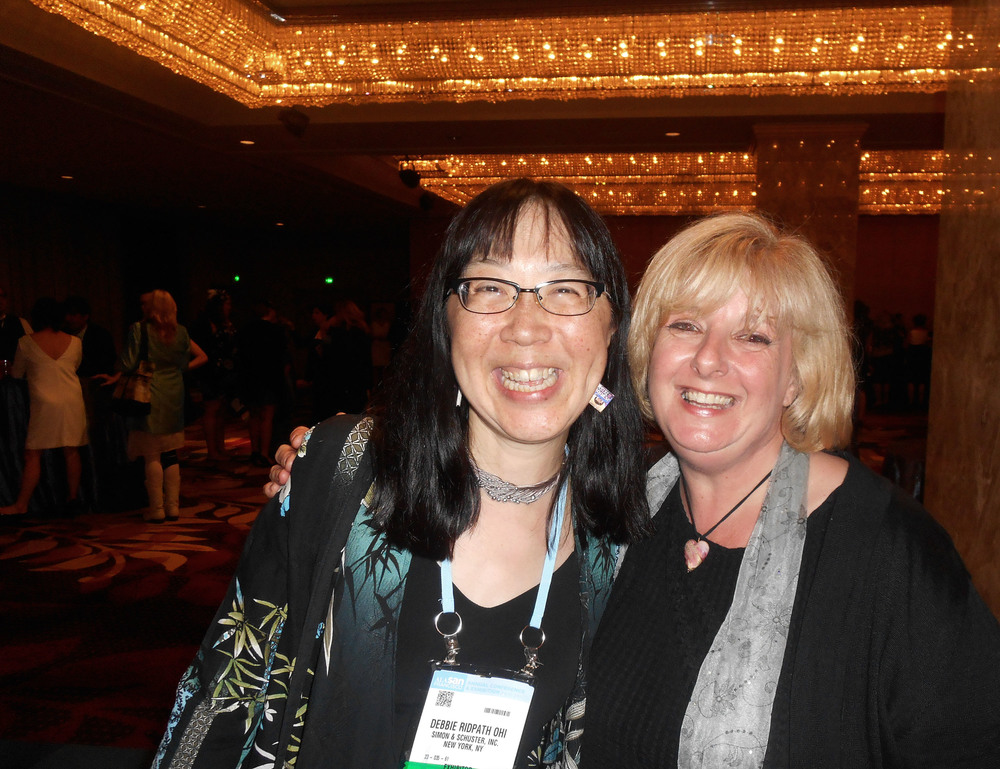 With Debbie Ridpath Ohi at the ALA Awards.