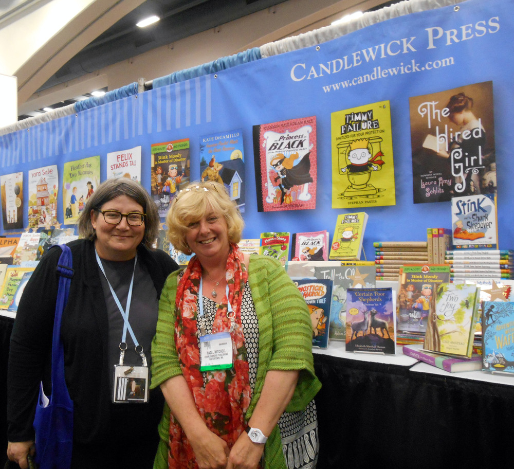 With Liz Bicknell, my editor at Candlewick Press.