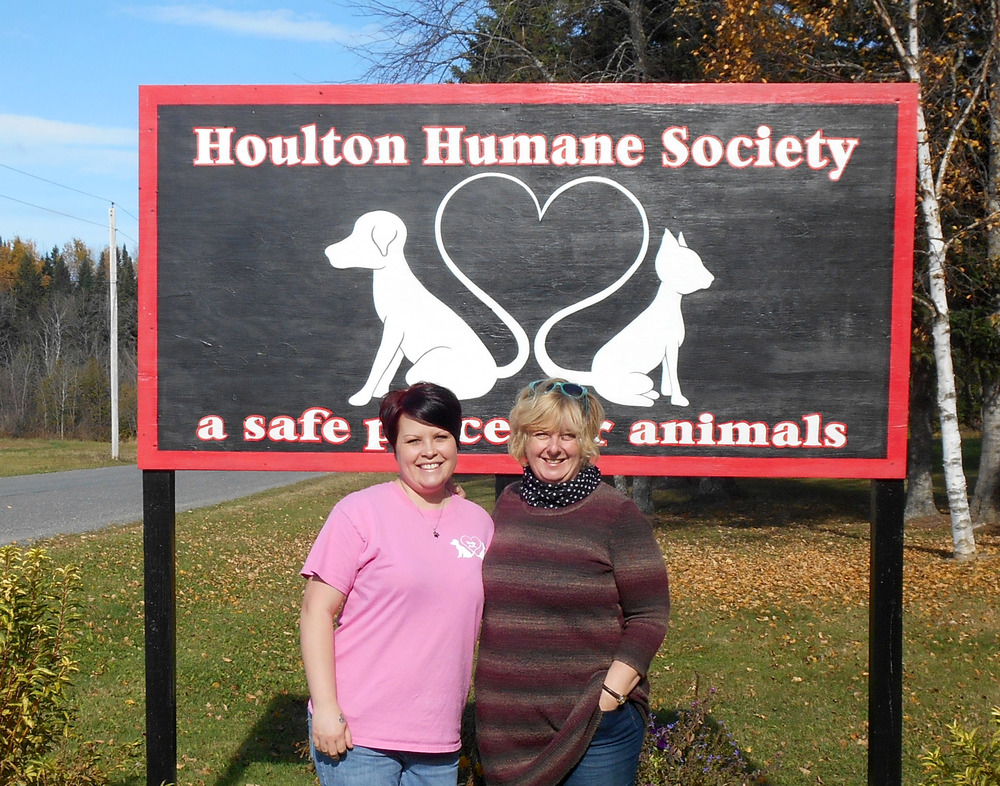 With Heather Miller, director of Houlton Humane Society.