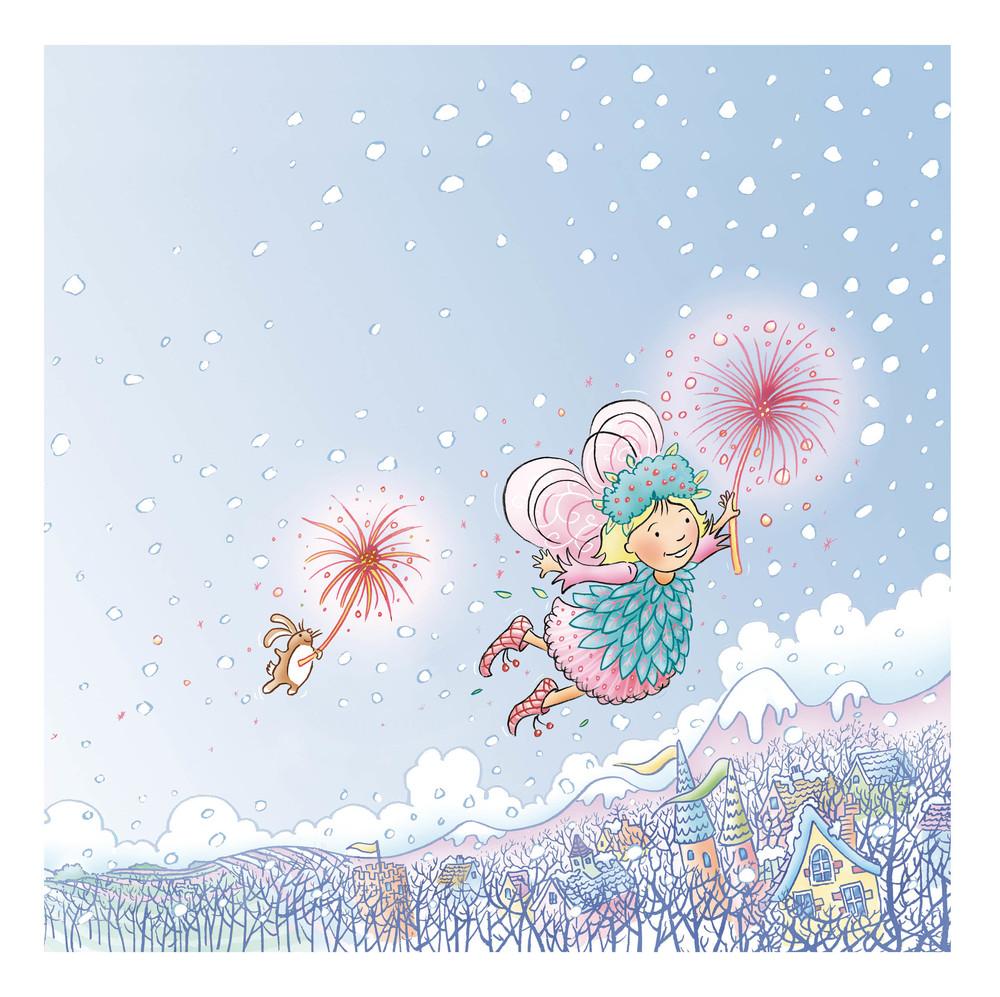 Where Do Fairies Go When It Snows? Print