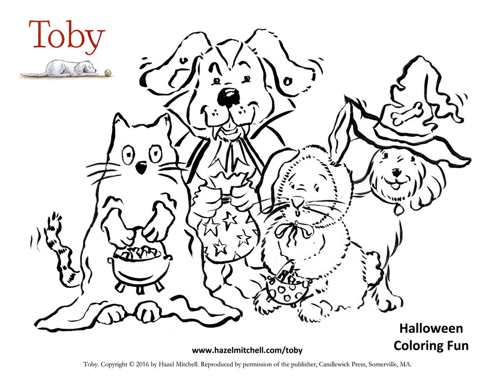 Toby Halloween Colouring Fun