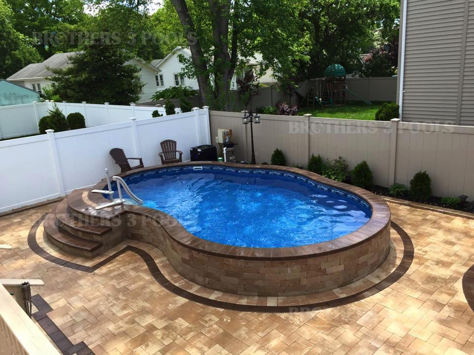 Inground pools Above Ground Semi Inground Semi Inground Brothers Pools