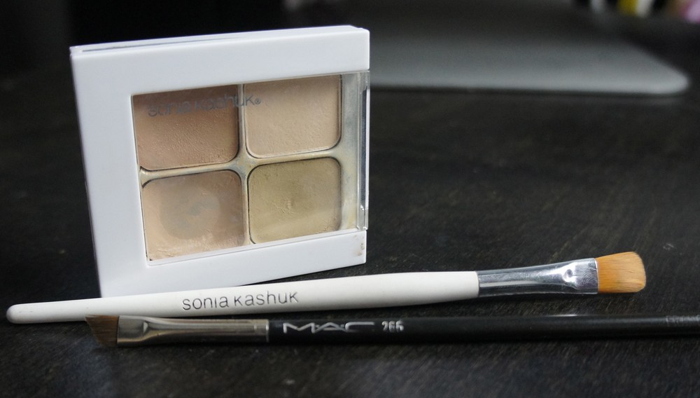 Sonia Kashuk Hidden Agenda Concealer Palette, Sonia Kashuk Concealer Brush, MAC 266 Brush