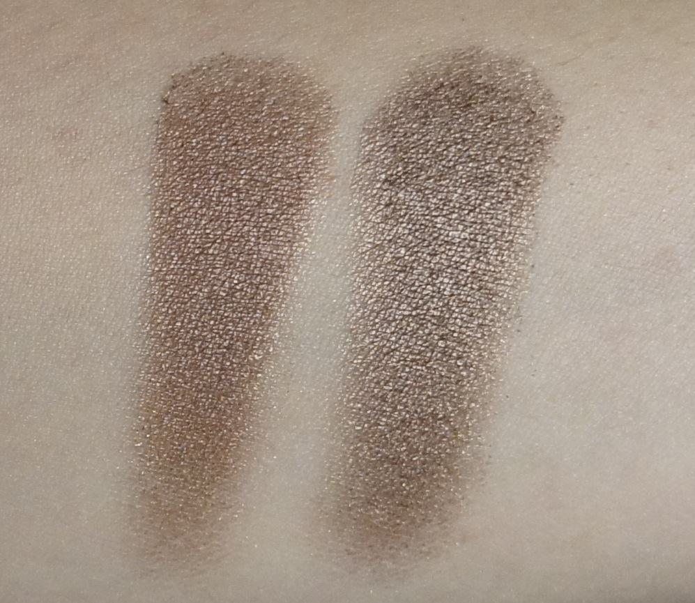 (LEFT) Sonia Kashuk -Eye Couture - Eye on Neutral Shimmer 3 (Eyeshadow #8)  (RIGHT) Urban Decay - NAKED Palette (Snakebite)