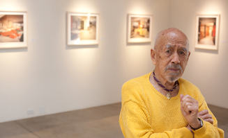 Leland Y. Lee at his 2010photography exhibition, age 91