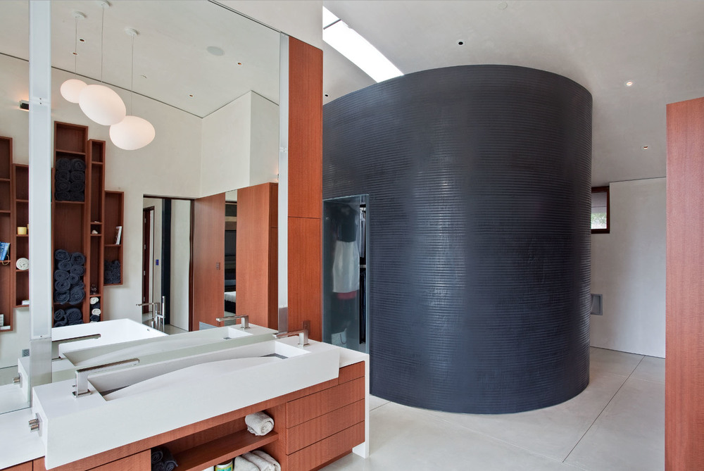 Master Bath   Contemporary Saratoga Home