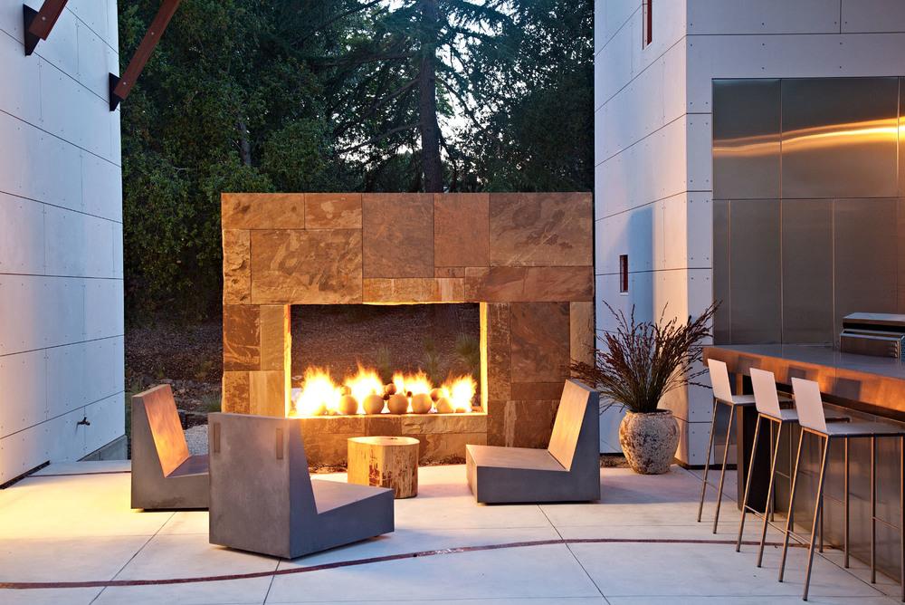 Fireplace Design saratoga fireplace : San Francisco Bay Area ArchitectsSaratoga Creek House