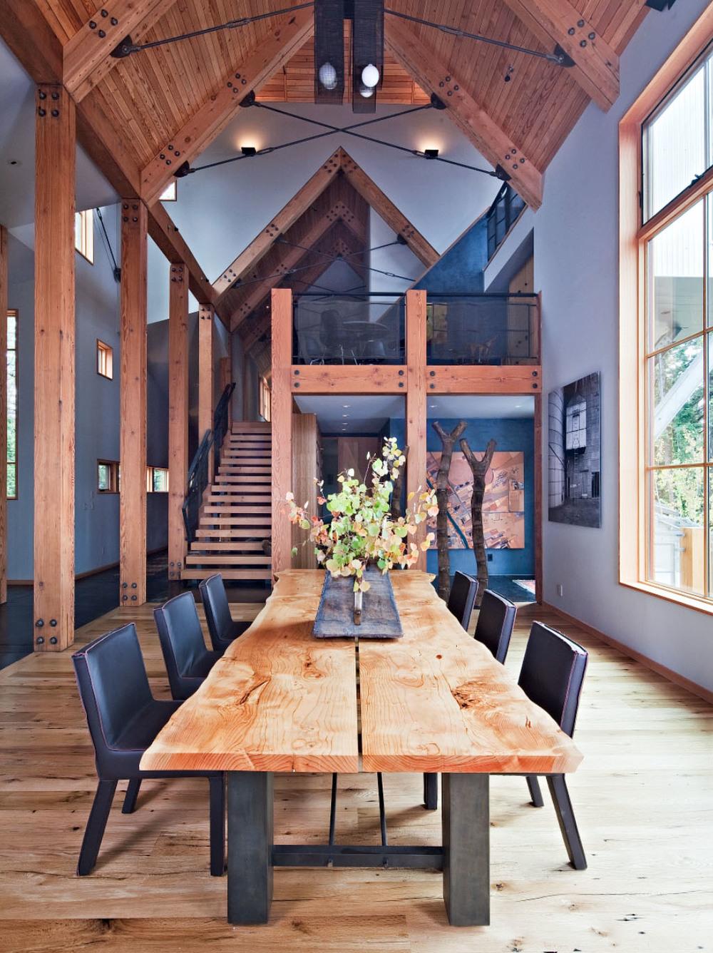 Dining Room   Lake Tahoe Modern Home