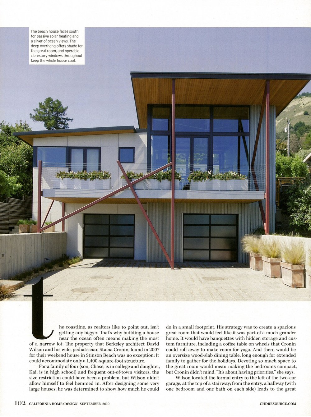 San Francisco Bay Area Architectsstinson Beach House California