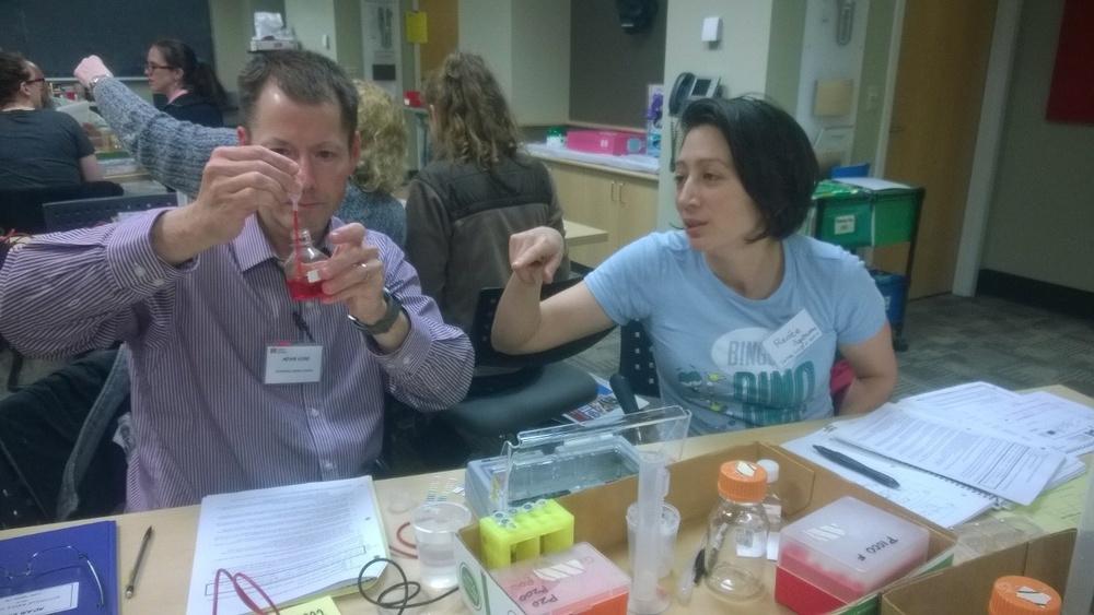SEP Participants Adam S. and Cornish Science teacher Renee Agatsuma