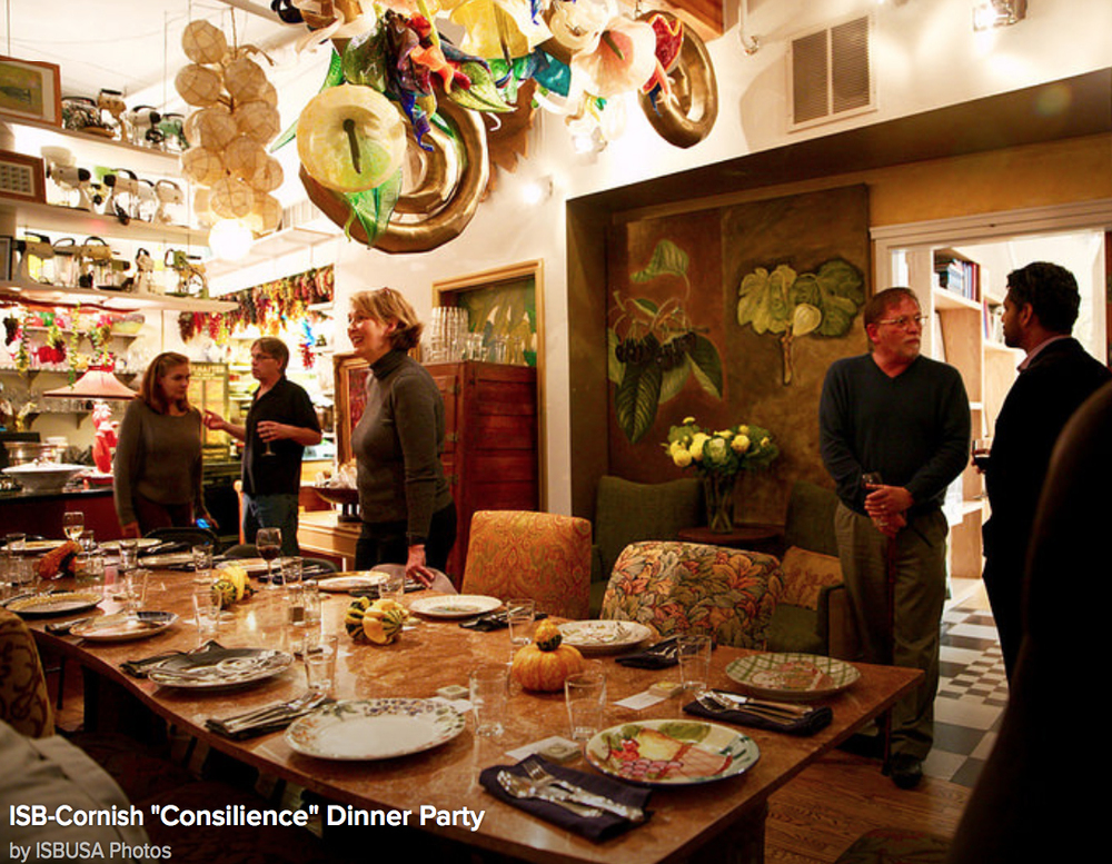 Art + Science Dinner at the home of artist Ginny Ruffner, Summer 2015