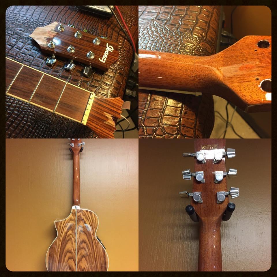 broken guitar neck