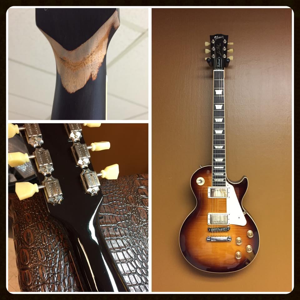 Les Paul broken guitar neck
