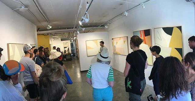 """Great artist talk at @kimotogallery by @scottsueme on his new show """"Home Work"""". Go see it!"""