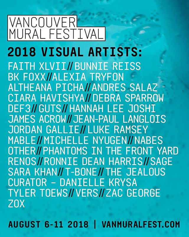 Excited for this! Thanks to all the artists who submitted and to our team of curators for helping bring this together.  Gonna be a big one.