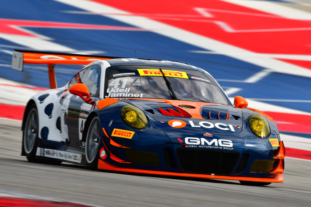 Alec Udell in the No. 41 Loci Porsche 911 GT3 R prepared by GMG. Image courtesy of GMG.