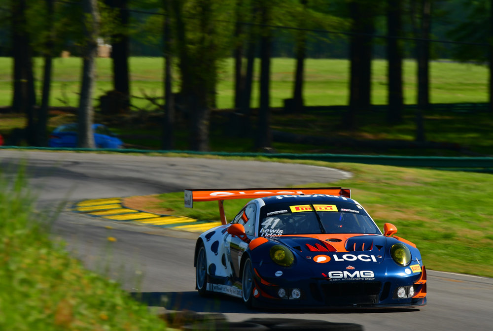 2018 - No. 41 Loci Porsche by GMG on track at VIR - Image Courtesy of GMG