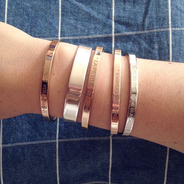 Hello ! Passez une belle journée ☀️ et n'oubliez pas vos bracelets 💋 • www.bonnieparker.fr • #bonnieparkerjewelry #jewels #createurfrancais #frenchbrand #frenchdesigner #style #pretty #bracelet #rosegold #silver #fashion