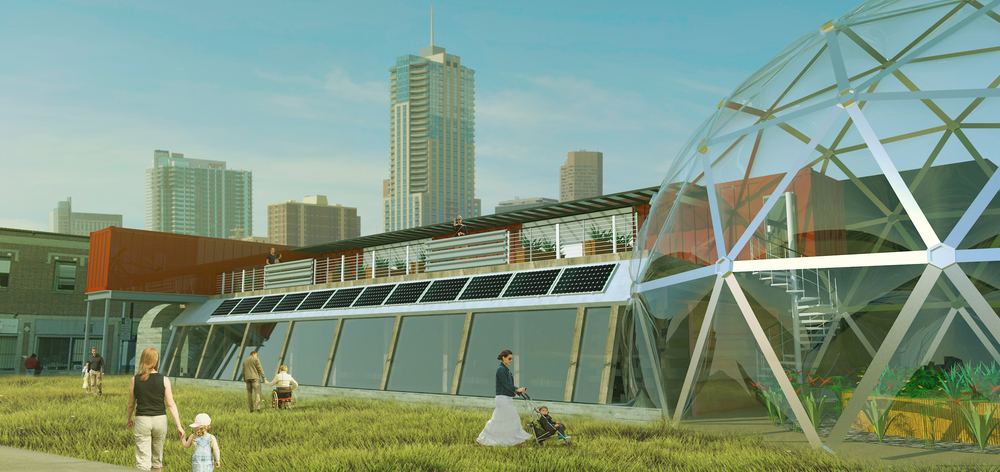 Greenhouse and South-facing Corridor