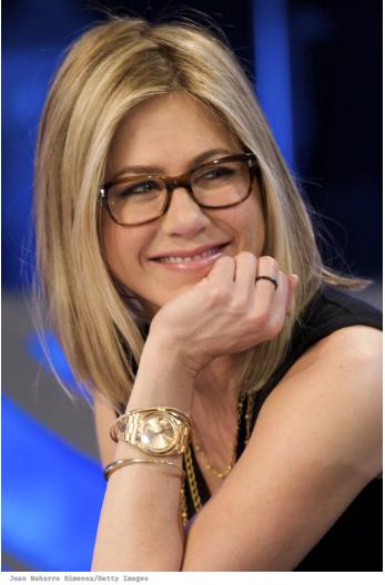 jennifer aniston wearing glasses