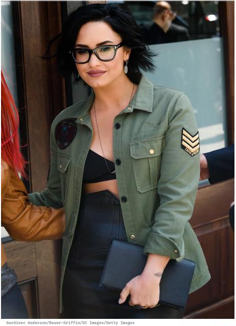 demi lovato wearing glasses
