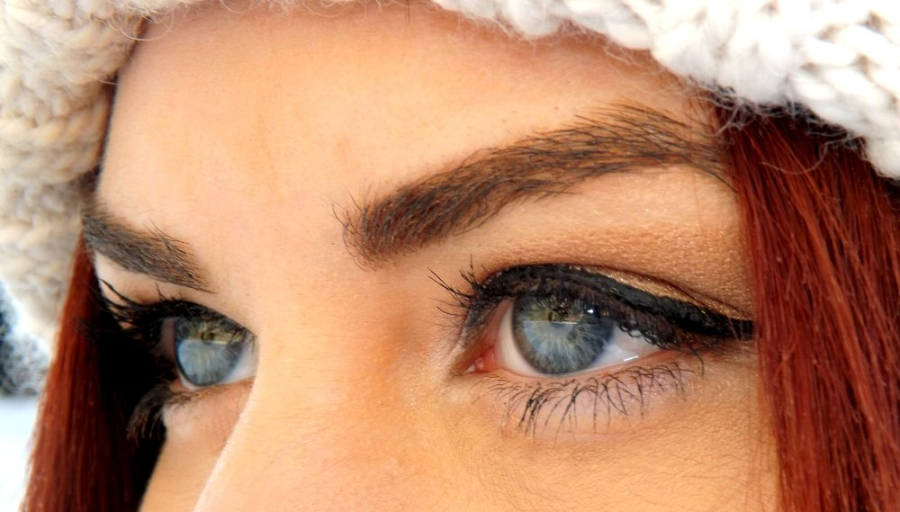 Woman Wearing Blue Contact Lenses