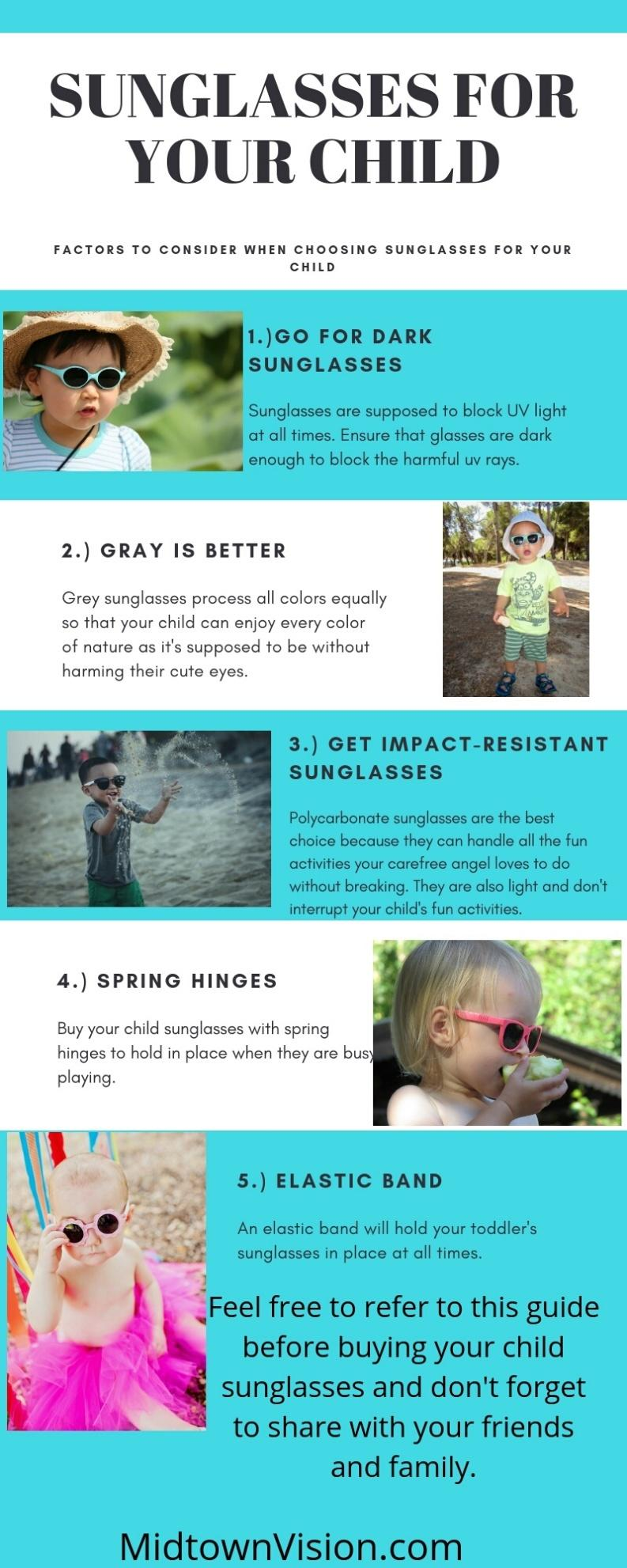 Sunglasses for Your Child Infographic