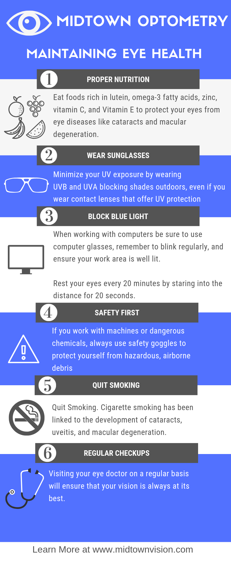 Maintaining Good eye Health infographic