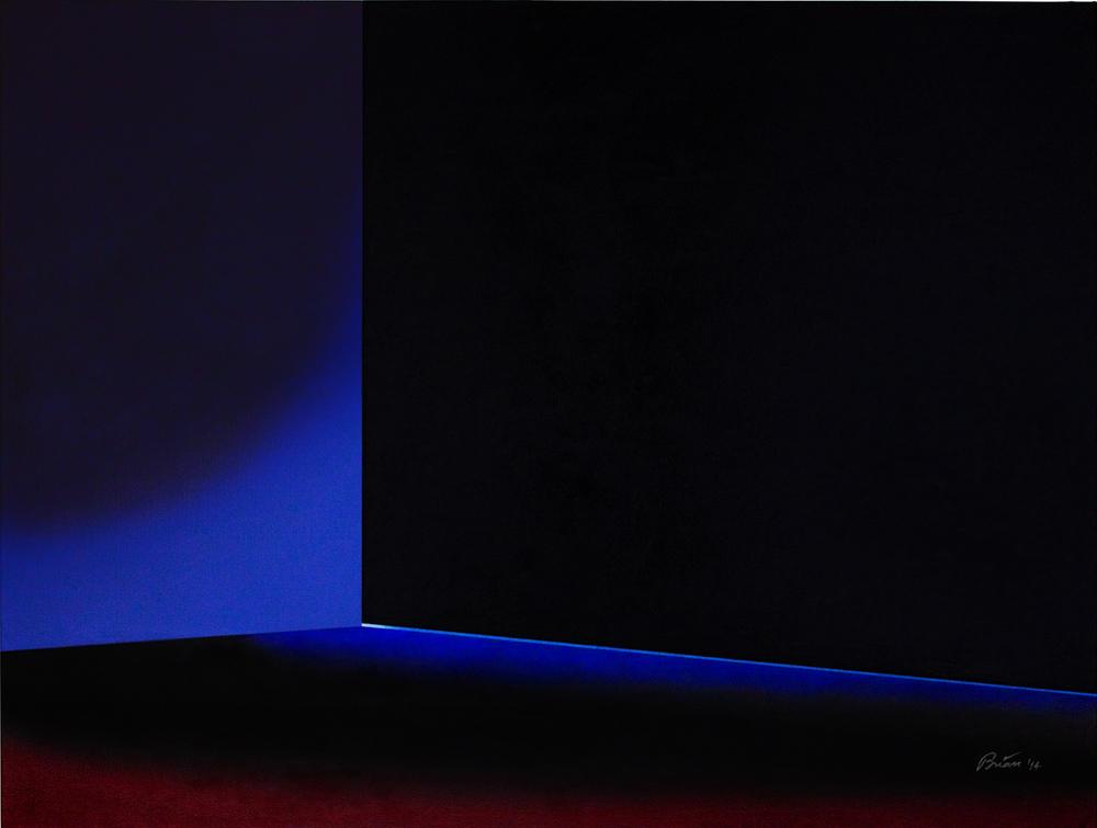 A Thin Seam of Blue Light