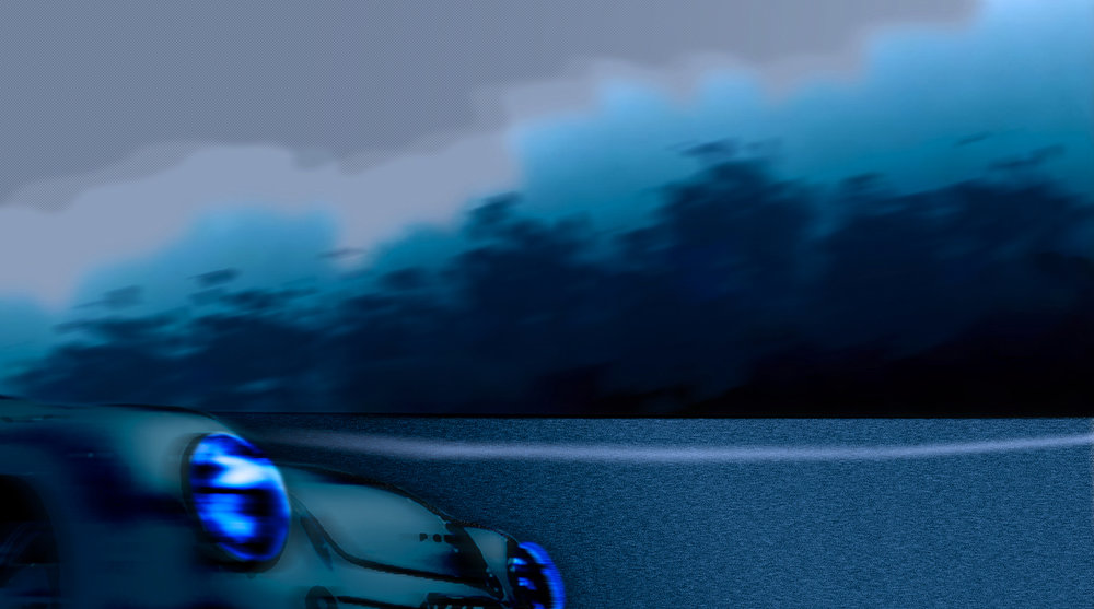 Blau Landschaft Motiv