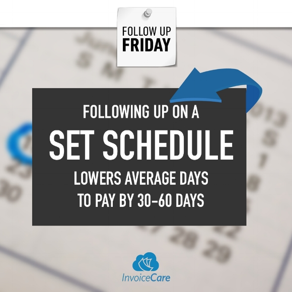 Following-Up on a Set Schedule Lowers Average Days to Pay by 30 to 60 Days