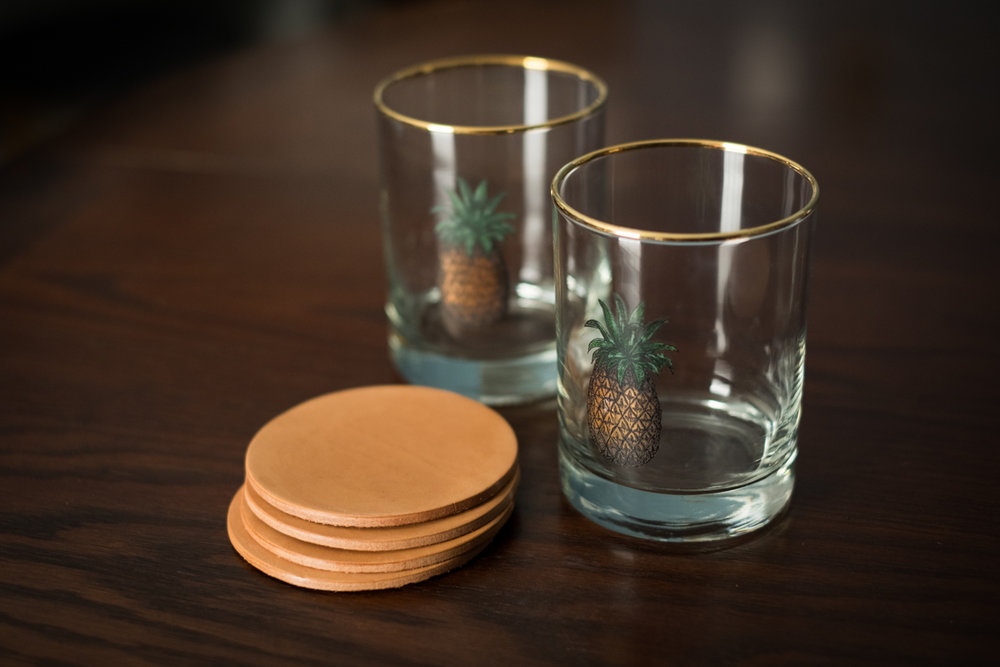 leather coasters    shop now