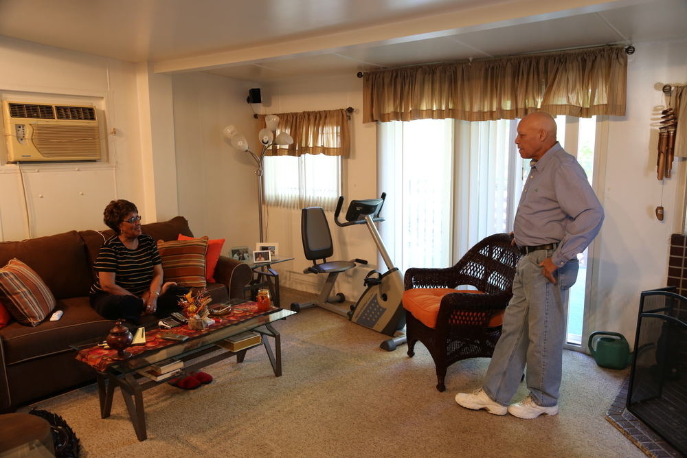 Shirley Huntley and her husband Herbert in the sitting room of theirJamaica, Queens home, where she secretly recorded other State Senators in an FBI sting operation