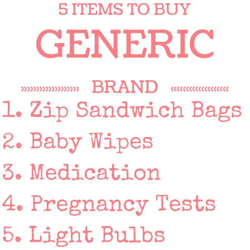 5 items to buy generic | momming is hard
