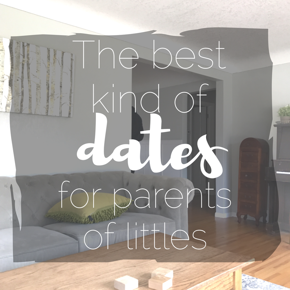 Date night idea for parents of little kids: couch dates! Grab your favorite cocktail, put your phone in the other room and connect with you spouse so you can remember that you are truly best friends and hopelessly in love with each other.