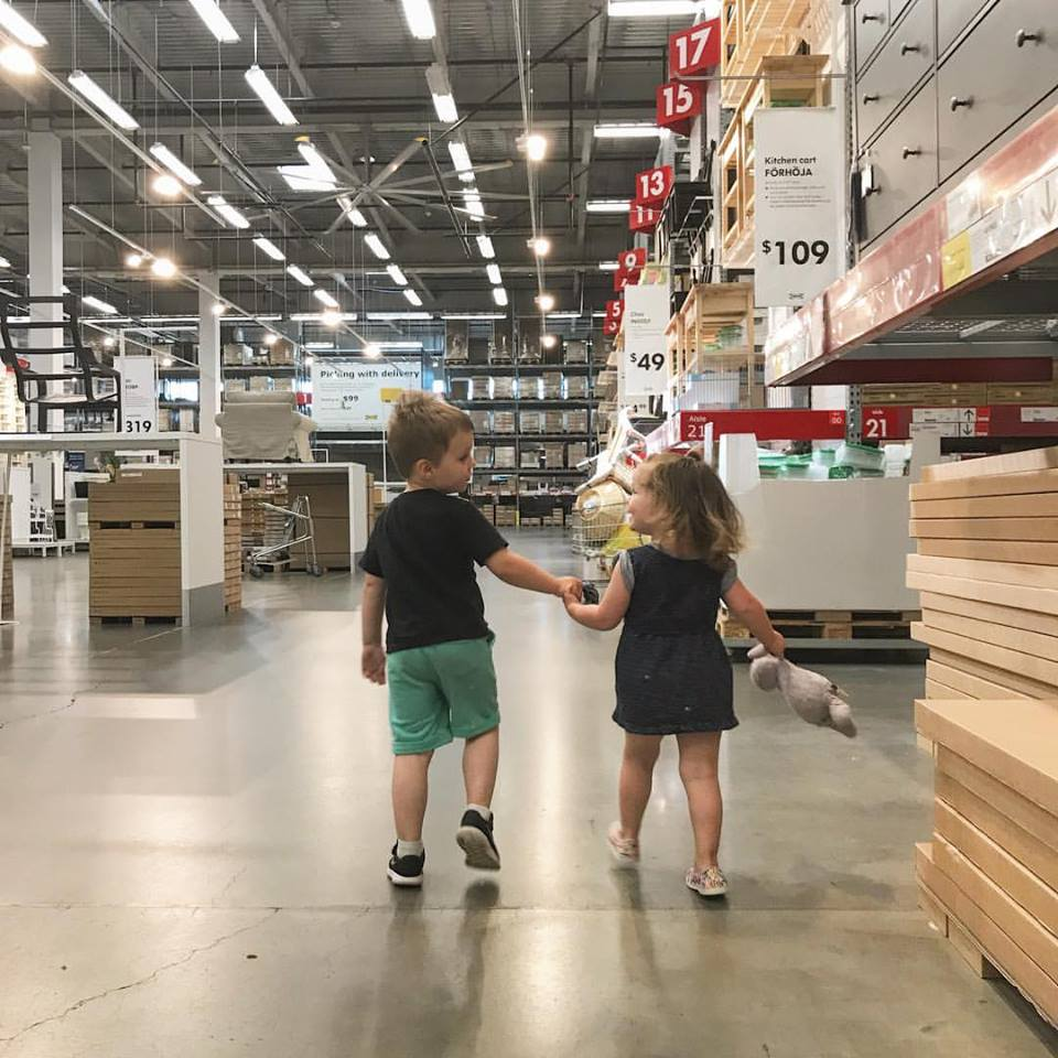 Going to ikea with a 2 year old and a three year old | momming is hard